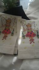 """Vintage """"The Mainstreet Collection"""" Linen Girl's Bath Towels - New"""