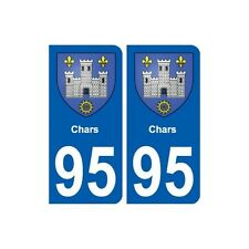 95 Chars blason autocollant plaque stickers ville arrondis