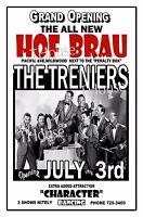 THE TRENIERS 1975 Hof Brau Club Wildwood NJ Art Rendition Poster THouse 2016