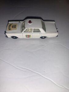 OLD VINTAGE LESNEY MATCHBOX # 55 FORD GALAXIE POLICE CAR