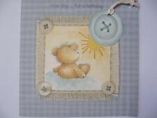 Carino Bear & pulsante Swing tag bella giornata per un compleanno BIRTHDAY GREETING Card