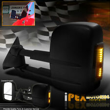 *LED SIGNAL* 88-98 Chevy C/K 1500/2500/3500 POWER Towing Tow Hauling Mirror PAIR