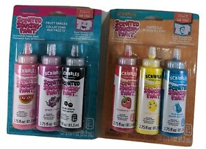 Scribbles - Fruit & Popsicle Scented 3D Fabric Paint Lot of 2 (#6 scents total)