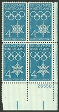 #1146 4c 1960 Winter Olympics, Plate Blk [26550 LR], Mint **ANY 4=FREE SHIPPING*