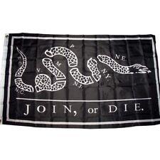 3x5 Black Join or Die Benjamin Franklin Tea Party Flag 3'x5' House Banner