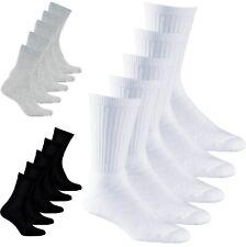Aurellie Men Sports Running Training Cotton Ribbed Socks 5 Packs