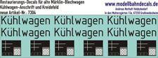 00-Restaurierungs-Decals - für alte Märklin-Kühlwagen 087-7304 Top Neu!