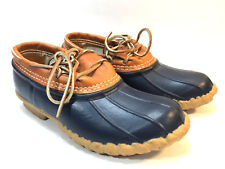 exciting  LL BEAN blue duck brown leather BEAN BOOTS 8