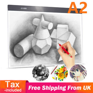 A2 LED Light Box Drawing Copy Board Tracing Art Pad Copyboard Gifts For Artist