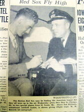 1939 newspaper w TED WILLIAMS photo as a Rookie baseball player w BOSTON RED SOX