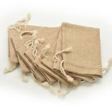 Gunny 5pcs Hessian Pouch Party Gift Rustic Drawstring Burlap Wedding Bag Favor