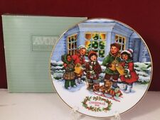 Avon Perfect Harmony 1991 Christmas Plate Carolers 22K Gold Trim Singing Kids