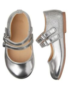 NWT GYMBOREE Fancy and Fun Silver Flats Dress Shoes Girl Toddler 4,5,6,9,10
