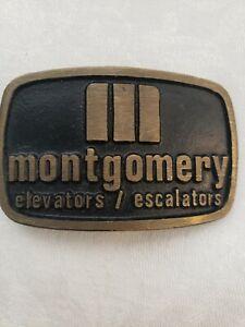 Vintage Montgomery Elevators Escalators Belt Buckle