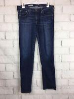 AG Adriano Goldschmied 29 R Womens Jeans Dark Wash The Stilt Cigarette Distress