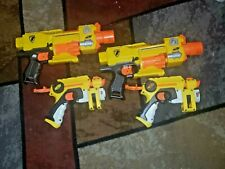 Lot 4 Nerf Gun Barricade RV-10 Motorized N-Strike &Red Light Night Finder Pistol