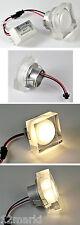 3 X SPOT ampoule ENCASTRABLE CARRE PLEXIGLASS à LED 230V 3200°K blanc chaud ★