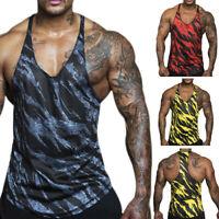 Men's Gym Muscle Sleeveless Tank Top Tee Shirt Bodybuilding Sport Fitness Vest