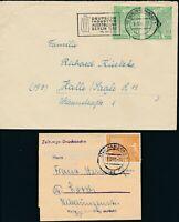 BERLIN 1952, Mi. 88-90 Brief, vier portorichtige Belege!! Mi. 165,--!!