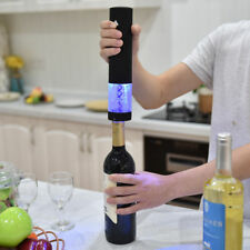 Fast Electric Wine Bottle Corkscrew Opener Cordless Foil Cutter LED Light Stand