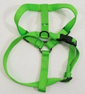 MM) Martha Stewart Pets Green Nylon Dog Adjustable Harness Small Medium