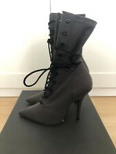 Yeezy Season 6 Lace Up Ankle Boots Graphite Size EU 37 1/2 'NEW IN BOX'