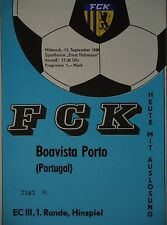 Programm EC 1989/90 FC Karl Marx Stadt - Boavista Porto