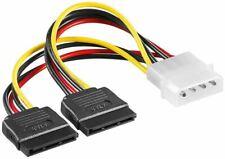 SATA Strom Adapter Kabel Verteiler 4 PIN Molex Stecker auf 2x SATA Buchse 0,13 m