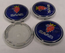Saab 93 9-3 9-5 9-7x Center Wheel Cap Emblem 12775052 New Set of 4 _ (Fits: Saab 9-3)