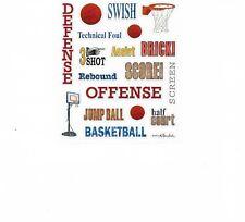 Basketball Goal Phrase Swish Score! Sports Scrapbook Stickers