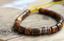Surfer Beach Tribal Style Natural Stone Wood Tibetan Bead Bracelet for Men Women