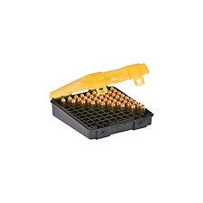 Plano 122400 Flip Top Handgun Ammo Case 100 Round 9mm/.380 Gray/Amber