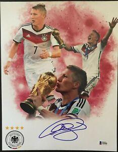 BASTIAN SCHWEINSTEIGER Signed Germany World Cup 11x14 Photo w/Beckett COA S09088