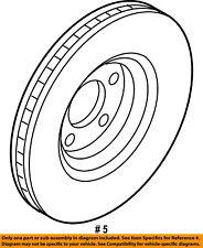 FORD OEM Front Brake-Disc Rotor K2GZ1125B