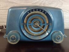 Vintage 1st Edition Crosley D-10BE Bullseye Tube Radio In Blue