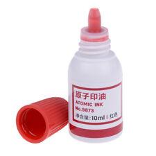 1Pc 10ml refilling ink stamp pad waterproof permanent red useful tool VAUS