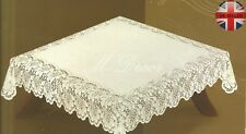 "Square cream or white lace tablecloth NEW 140cm x 140cm (55"" x 55"") elegant gift"