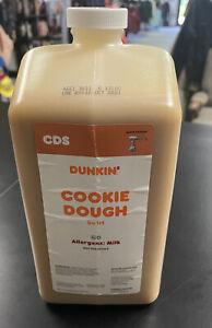 Dunkin Donuts Cookie Dough Swirl Syrup FREE PUMP 64 oz Jug Expiration 10/2021