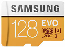 Samsung Evo 128GB 100mb/s microSDXC card with Adapter 128 GB For 4K Videos