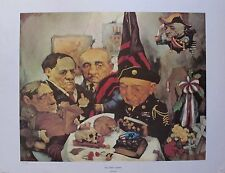 Charles Bragg THE DRAFT BOARD Facsimile Signed 1970 Color Art Lithograph