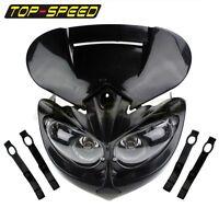 Dirt Bike Motorcycle Universal Vision Headlight Street Fighter Headlamp Black