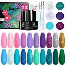 Beetles Gel Nail Polish Kit, Mermaid 20 Colors Soak Off Gel Polish Starter Kit w