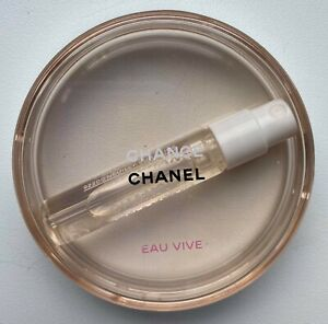 CHANEL CHANCE EAU VIVE EDT 2 ML MINIATURE SAMPLE IN ROUND CASE VIP GIFT