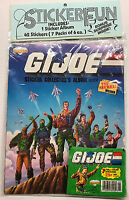 Vintage 1986 G.I. GI JOE Cartoon Diamond Hasbro Album Book w/7 Sticker Packs NEW