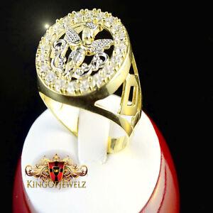 NEW LADIES WOMEN'S 10K SOLID YELLOW GOLD LAB DIAMOND ANGEL RING 5.5 GRAM SIZE 8