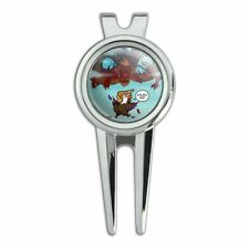 Trump Trade War with China Red Dragon Eagle Chicken Golf Divot Tool Ball Marker