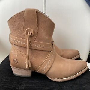 Ariat Leather booties 8.5