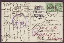 d5133/ Norway Censor Cover via Russia t/EAC Shipping Co in Hong Kong China 1915