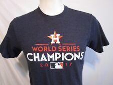 2017 HOUSTON ASTROS World Series Champions Blue T Shirt  Men Sz S   EUC!