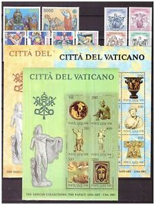 s15547) VATICANO MNH** 1983 Complete Year set 10v + S/S x3